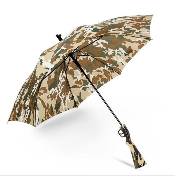 Camuflagem Guarda-chuva Sobrevivência 98k Longo Lidar Com Guarda-chuvas Semiautomático Dobrável Protetor Solar Caminhadas Pesca Umbrella Gun Lidar Com Guarda-chuvas GGA2449