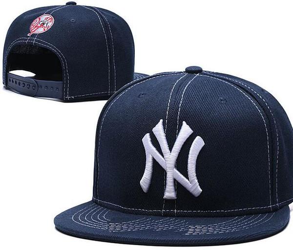 Нью-Йорк Snapback шляпы вышитые письмо команда Нью-Йорк логотип бренда хип-хоп Спорт Бейсбол регулируемые шапки дизайнер кости Горра casquette hat 02