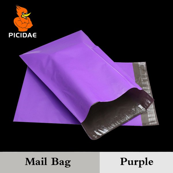 Purple Color Envelope Mailing Bag Courier Mailer Express Poly Mail By Packaging Shipping Plastic Package Self-Adhesive Supplies C18112801