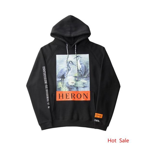 Мужская толстовка с капюшоном Heron Preston весна-осень флисовая кофта кофта