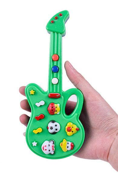 20 шт. Новинка мультфильм игрушка гитара высокое качество музыка электрогитара дети музыкальные инструменты развивающие игрушки для детей подарки