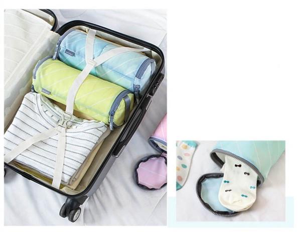 Creative Travel Bag 2 Use Travel Organizer for Underwear Socks Waterproof Beach Bag Accessories Set