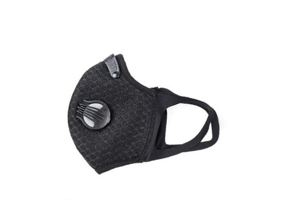 in stock face mask 3 layer ear-loop dust mouth er 3-ply non-woven dust mask soft maschera breathable outdoor #qa599, Black