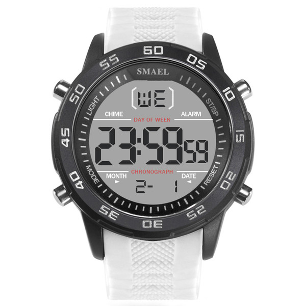 Новые светодиодные светящиеся спортивные часы один дисплей классические часы мода мужские часы высокого класса большой циферблат силиконовые пояса часы