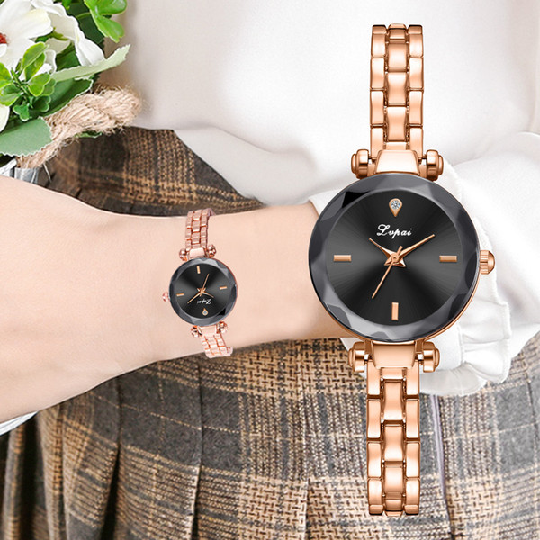 reloj mujer Fashion Leisure Irregular Glass One Diamond Dial Alloy Belt Ladies Quartz Watch women watches rose gold