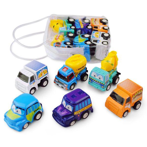 Bambino regali 6pcs / lot scherza Giocattoli inerzia Auto Mini tirare indietro Auto Diecast Model Cars