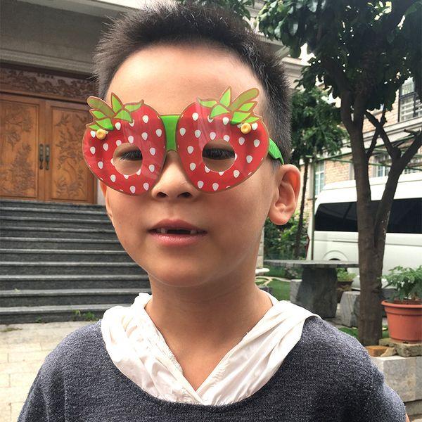 2019 venda quente festa de verão popular havaiano fruta em forma de óculos de sol crianças brincam brinquedos china fábrica de produtos de produtos atacado