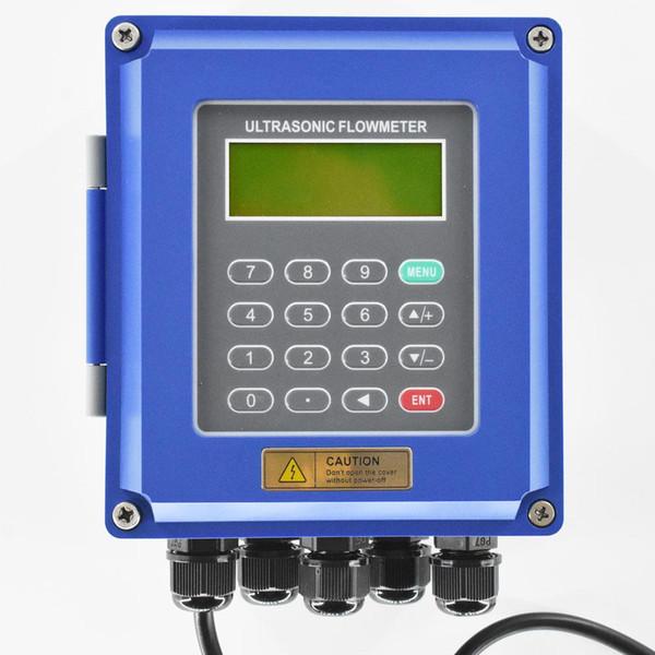 Ultrasonic liquid flow meter RS485 Modbus New TUF-2000B wall-mounted digital flowmeter DN50-700mm for industrial control