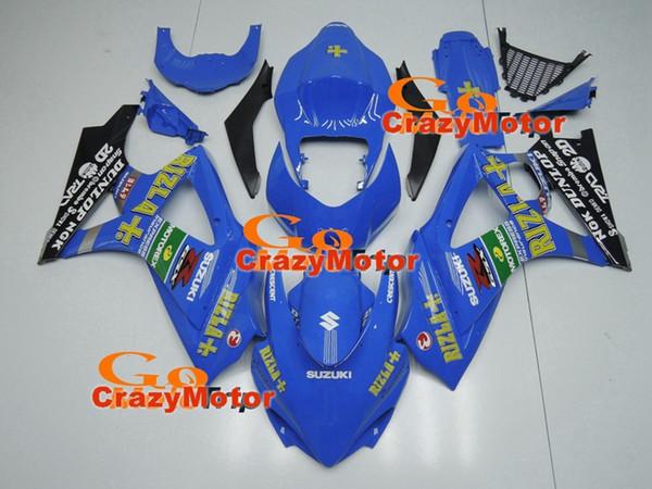 Alta calidad Nueva ABS motocicleta Kits de carenados aptos para Suzuki GSXR1000 K7 GSX-R1000 2007 2008 07 08 conjunto de carrocería personalizado conjunto Carenado cielo azul