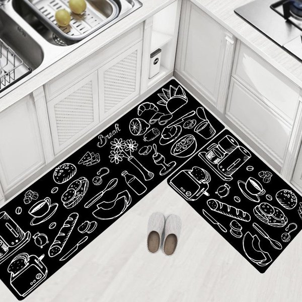 2019 Quality Kitchen Carpets PVC Leather Floor Mats Large Floor Carpets  Doormats Bedroom Tatami Waterproof Oilproof Kitchen Rugs From China_smoke,  ...