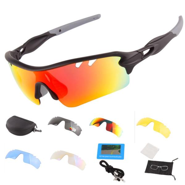 Gafas de sol polarizadas de medio fotograma 5 juegos de lentes UV400 HD luz polarizada Anti-UV Lentes reemplazables y lentes miopes.