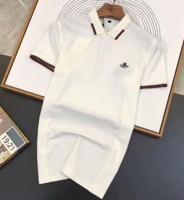 Na Venda 2019 Novo Polos Sólidos Itália Projeto Homens De Algodão Ocasional Pólo Camisa de Verão Respirável Negócios Camisas Polo dos homens de Manga Curta Preta
