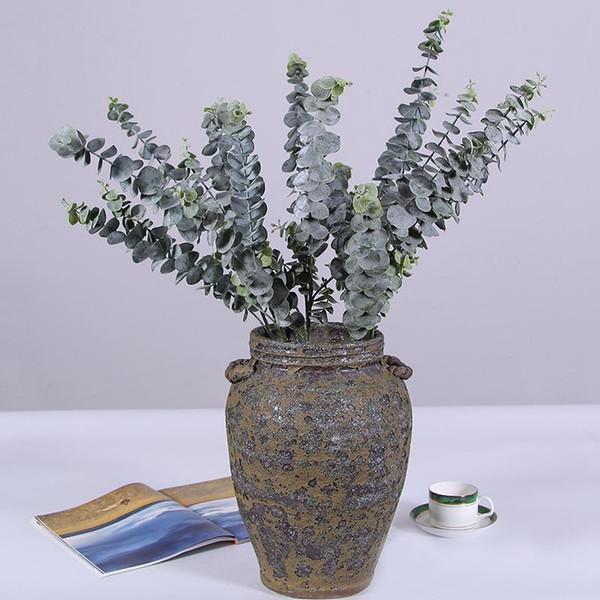 3 Branche Artificielle En Plastique Arbre D'eucalyptus En Plastique pour Décoration De Mariage De Noël Décoration florale Petites Feuilles Usine Faux Feuillage