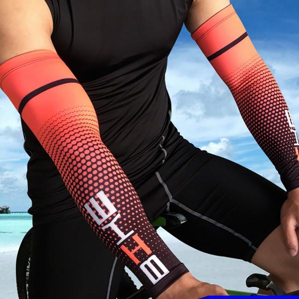 1 par de ciclismo manga del brazo para el baloncesto correr bicicleta brazo calentadores deportes de camping protección solar UV sin dedos Cove