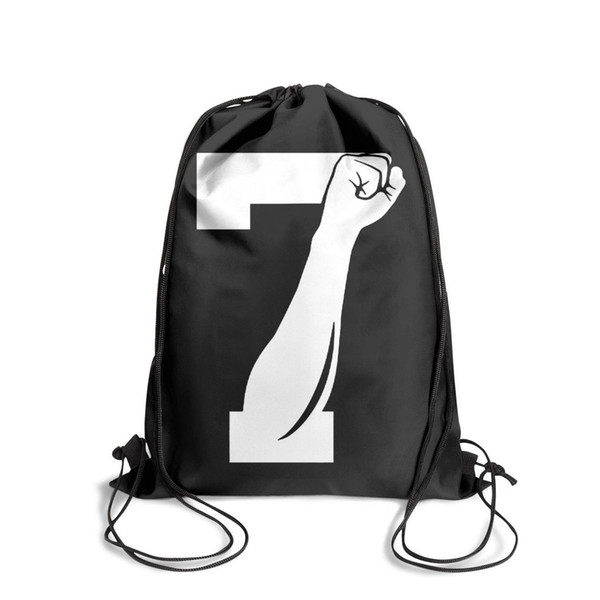 Drawstring Sports Backpack 7 Fist Up' Colin Kaepernickcool adjustable Travel Beach Pull String Backpack