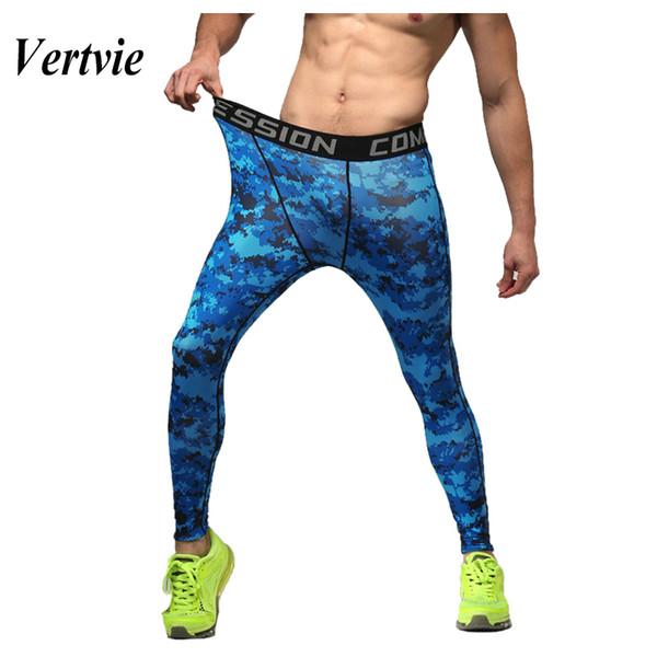 Vertvie Laufhose Herren Fitness Leggins Herren Print Radfahren Spandex Strumpfhose Compression Running Pants Sportswear 1St