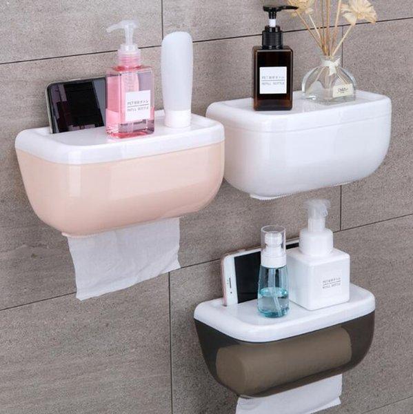 Creative Waterproof Paper Towel Box Roll Paper Towel Tube Wall Hanging type DHL Free