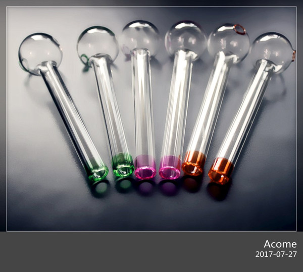 QBsomk Top Mode Rushed Handcraft Pyrex Glas Ölbrenner Rohr Mini Rauch Beste Tabakpfeifen Bongs Rigs Hohe Qualität