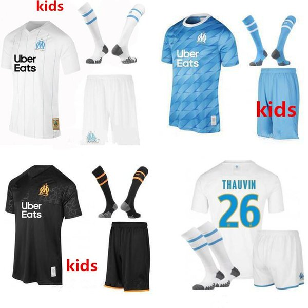 2020 19 20 Kids Olympique De Marseille Soccer Jersey Kids Kit With