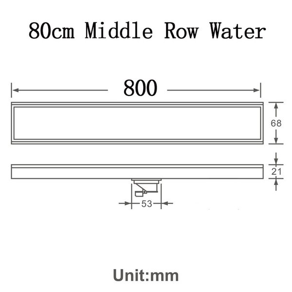 80cm Mid Row Water
