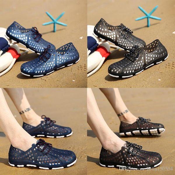 designer sandals Summer Slippers Men Slip-On Flip Flops Shoes Casual Wading shoes beach sandals EVA super light low croc shoes wholesale