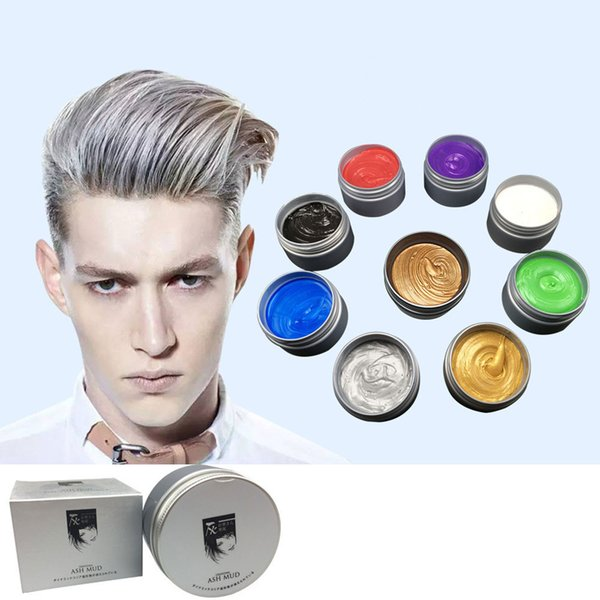 best selling 120g DIY Hair Clay One-Off Color High Hold Gel Mud Cream Pomade & Wax Styling Shine Big Skeleton Makeup For Men Women Free Ship