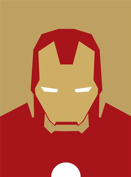 Minimalist Iron Man Art Canvas Painting HD Wall Picture Poster And Print Decorative Home Decor