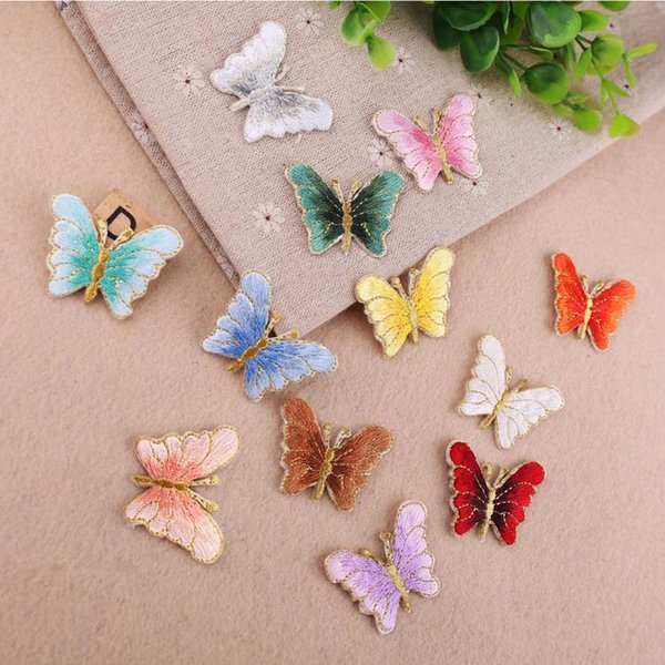 1Pcs Butterfly Embroidery Patch Heat Transfers Iron On Sew On Patches for DIY T-shirt Clothes Stickers Decorative Applique 47221
