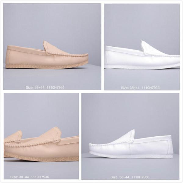 2019 sommer Neue Männer Schuhe für Designer Französisch faul stil Schuhe Herren Moderne milch Freizeitschuhe Männlichen Einzigartige top qualität Outdoor Chaussures