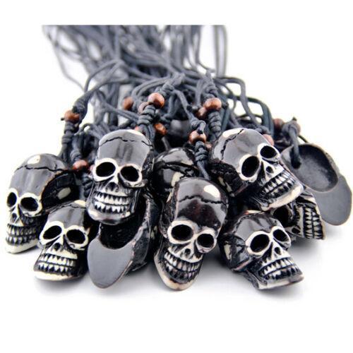 12pcs Cool Boy Men's Tibetan style skull head Pendants Necklaces Jewelry wholesale XL54