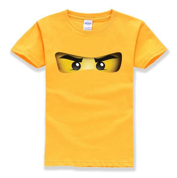 Venta caliente ninjago patrón de dibujos animados 100% algodón del o-cuello de manga corta camisetas bebés ropa de verano de alta calidad camisetas