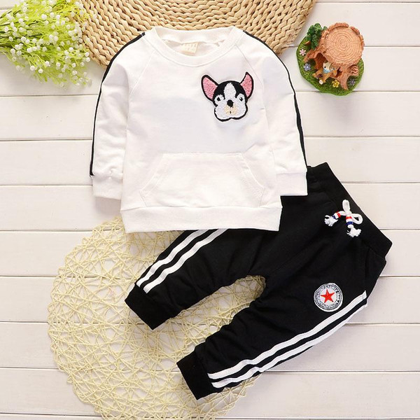 Baby Boys Clothes Spring Autumn Cartoon Dog Round Neck T-shirts Tops Long Pants Infant Clothing Set Casual Kids Bebes Sport Suits