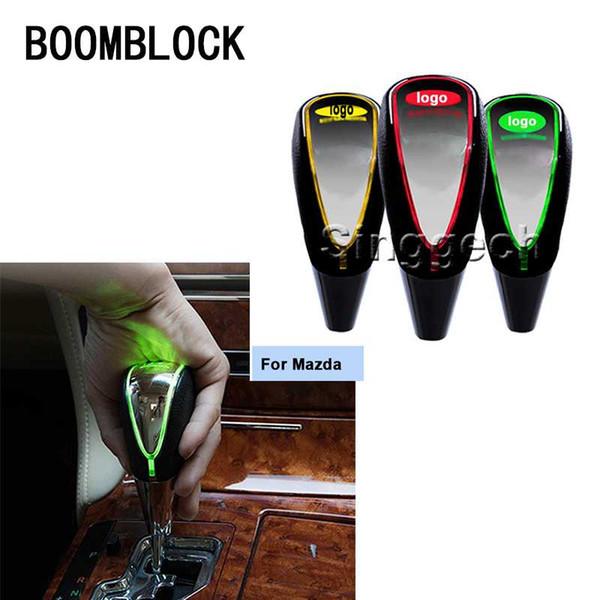 BOOMBLOCK Auto Schaltknauf Touch Sensor bunte LED-Licht 5/6 Geschwindigkeit 3 6 2 CX5 CX5 CX-7 Auto-Logo-Emblem