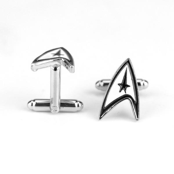 Movie Star Trek Vintage Warship Cufflinks High Quality French Shirt Cuff Links Brand Cuff Button For Mens Gift