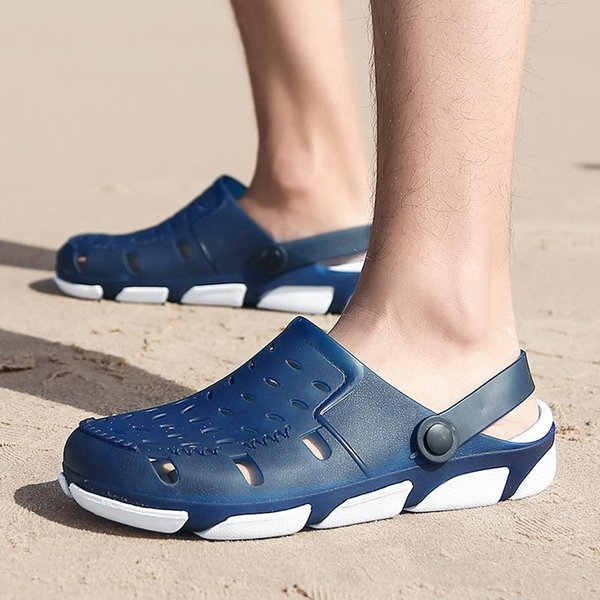 high quality designer sandals Jelly Sandals Men Beach Slippers Male Light Weight Summer Eva Garden Shoes Breathable Hole Mens flip-flops