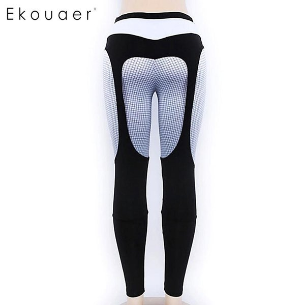 Women Plaid High Waist Pants Stretch (Elastic) Yoga Workout Sport, Yoga,etc Leggings Pullover Multi-layer
