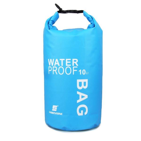 LUCKSTONE 10L waterproof dry bag ultralight for outdoor trips, rafting, kayaking swimming drifting