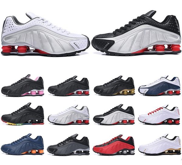 HOT men shox deliver NZ R4 top designs for women basketball running dress sneakers sport lady crystal lace flat casual shoes best sale