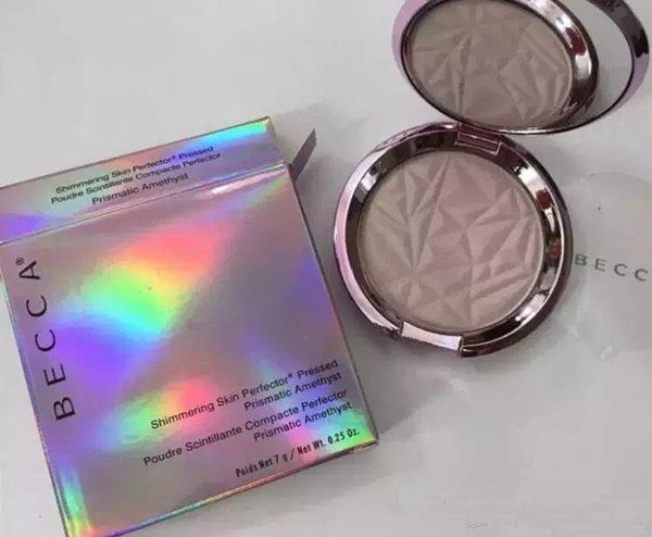 Best Quality BECCA Shimmering Skin Perfector Pressed Powder PRISMATIC AMETHYST single color Bronzers Highlighters DHL free shipping