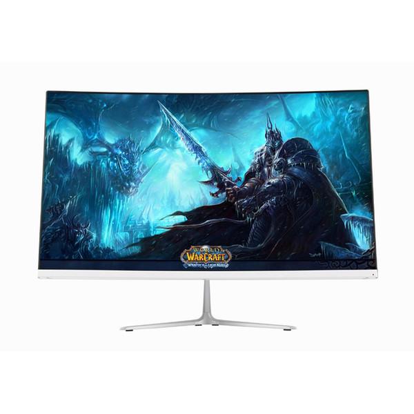 Wearson 23,8 pulgadas de entrada Competencia de juegos curvo Widescreen LCD Monitor de juego HDMI VGA de respuesta de 2ms WS238G