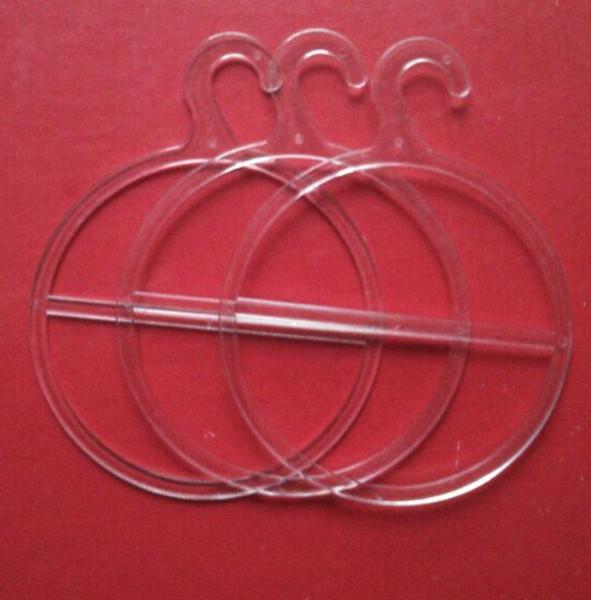 Sciarpa in plastica Appendiabiti Cerchio Portapacchi Rotondo Anello singolo con gancio Display Anello per avvolgere mantelli Scialli Asciugamani Cravatta