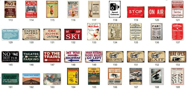 2019 Vintage Metal Tin Signs For Home Kitchen Toilet Wall Decor Iron  Paintings 20*30cm Metal Signs Tin Plate Pub Bar Garage Retro Decoration  From ...