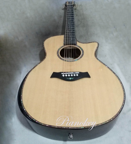 best selling Custom handcrafted 41 inch deluxe acoustic guitar,ebony fingerboard and bridge