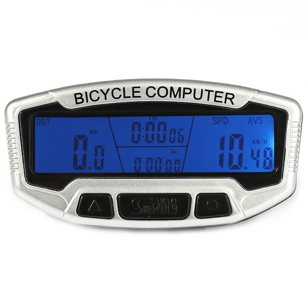 Multifunctional Wired Bicycle Computer Water Resistant Cycling Odometer Speedometer Stopwatch LCD Backlight with mounting accessories