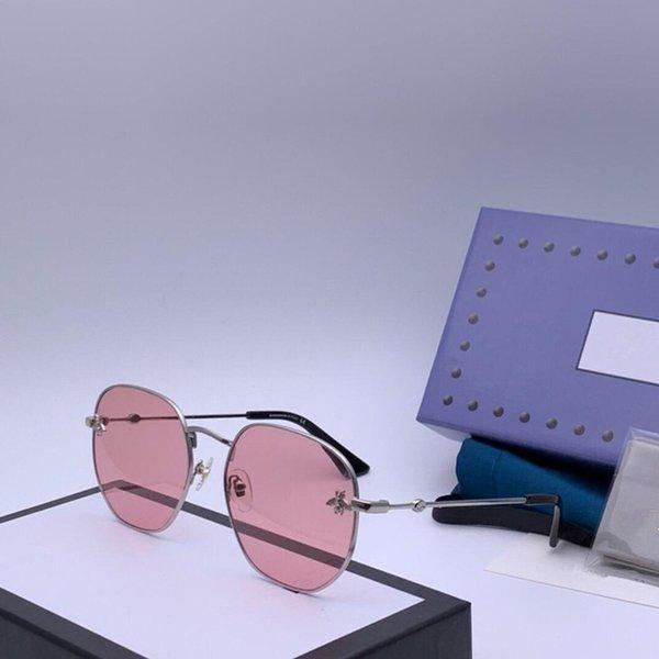 lentes de color rosa marco de plata