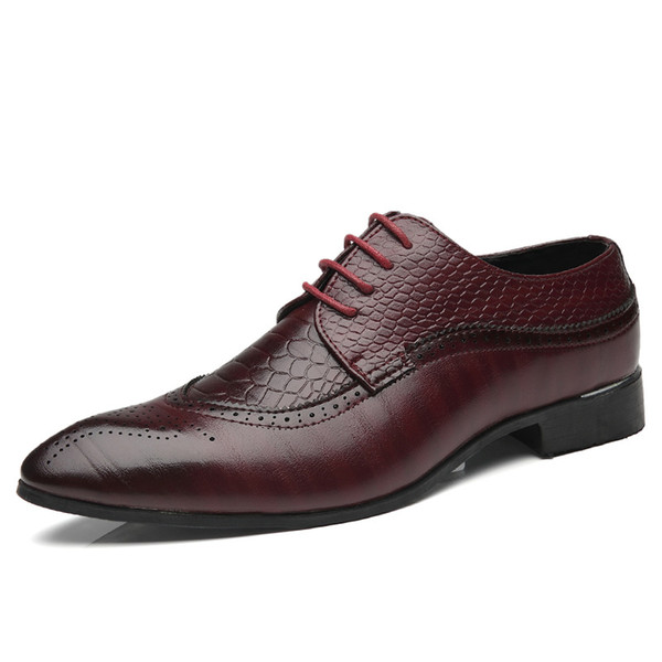 New Men Brogue Dress Shoes With Lace up Business Leather Shoes Office Men Dress Shoes Plus Size 2018 Leather Casua New Men Brogue Dress Shoes With Lace up Business Leather Shoes Office Men Dress Shoes Plus Size 2018 Leather Casua shoes 780