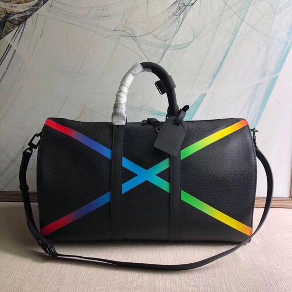 Nuevo estilo de calidad superior para hombre, bolso de viaje para hombre, bolso de mano para hombre, bolso de cuero, bolso de lona, marca de moda para mujer, bolso de diseñador