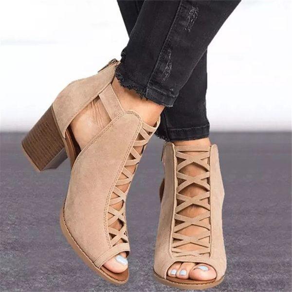 top popular Designers Wedge Sandals Fish's Mouth Shoes Women 6-8 cm High heel Platform shoes SummerPlus-size sandals 35-43 2020