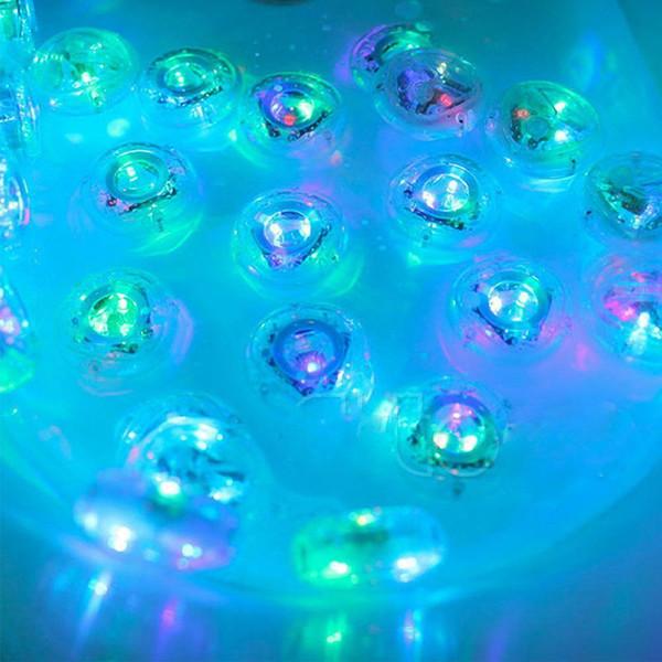 Bañera para niños Luces de colores Juguetes acuáticos Luces de la piscina a prueba de agua Juguetes de baño de destello impermeables Ducha de fiesta Luz nocturna Regalo flotante