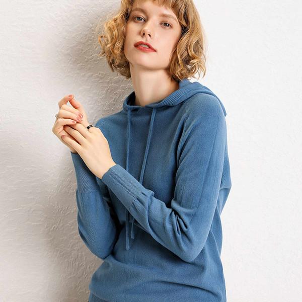S-XXL женская толстовка с капюшоном и толстовка осень зима Harajuku пуловер твердые женские толстовки женская тонкая шерстяная толстовка # 52